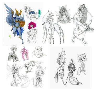 Another Sketchdump II by IngalTi