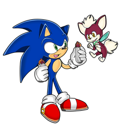:AT: Sonic and Chip :AT: by Recklesschibi