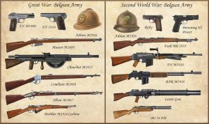 ww1 - ww2 Belgian Weapons