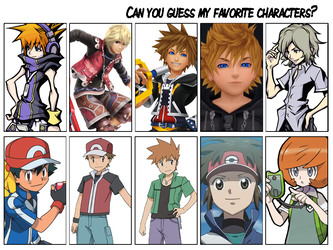Can you Guess my Favorite Characters? Meme by PKMNTrainerSpriterC