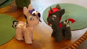 TheLostNarrator and Magpie Pony Plushies by Twilyx360