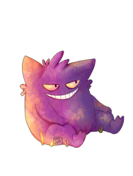 Gengar (transparent) by GoatKidCryptid