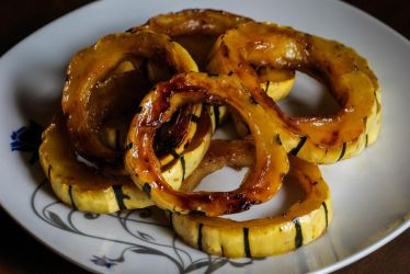 Roasted Delicata Squash with Brown Sugar by Kitteh-Pawz