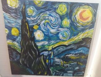 Starry Night Cabinet by angelgirl132art