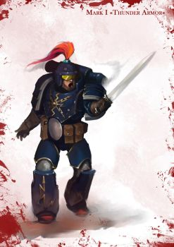 Mark I space marines armor speedpaint by Zomanuid