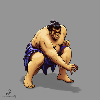 STREET FIGHTER II: E Honda (COLOR) by CrescentDebris