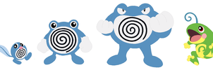 Poliwag, Poliwhirl, Poliwrath and Politoed Base