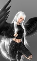 The Heterochromic Fallen Angel. by JoannaHashim