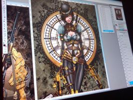 Lady Mechanika - in progress by jamietyndall