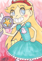 Art Card 29 - Star Butterfly by VickyViolet