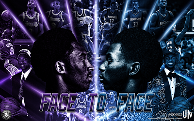 Kobe Bryant Andrew Wiggins Face to Face wallpaper by vndesign