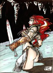 red sonja sketch by weshoyot