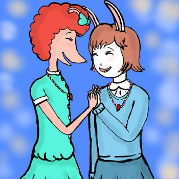 Prunella and Marina: Giggling Girls by harbinger-project
