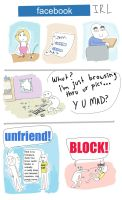 Facebook IRL: 3 comics in 1 by Plastic-Saints