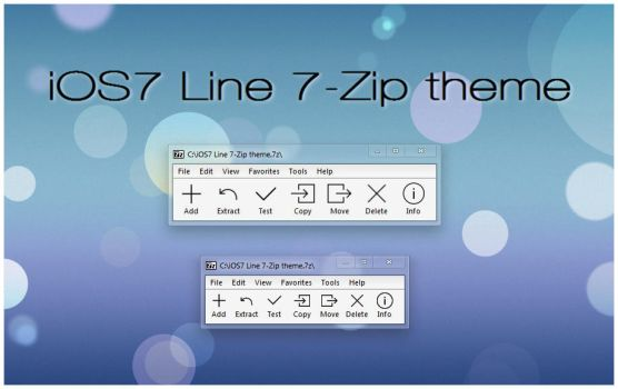 iOS7 Line 7-Zip theme by alexgal23