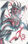 Black and Red Wyvern by DragonRider02