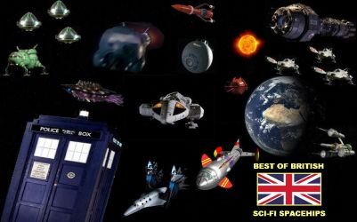 Best of British - Sci-Fi Spaceships by DoctorWhoOne