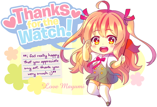 Thanks for the Watch! by Hokage3