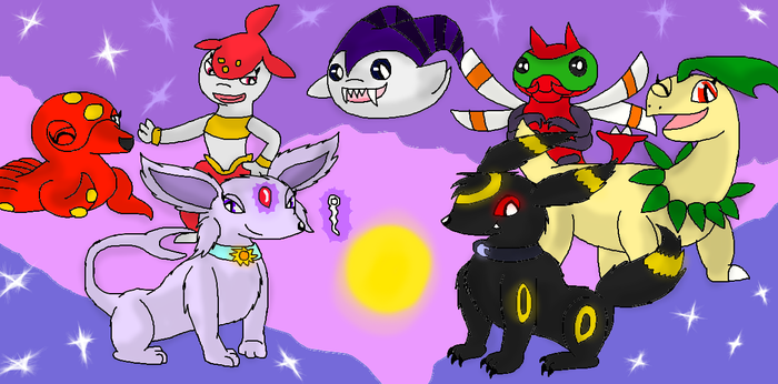 MidnightAndBeyond's Pokemon Colosseum Team by thedragonlover95