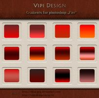 Gradients for photoshop - Fire by elixa-geg
