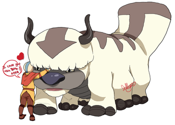 Aang and Appa Best Friends Forever by Drawing-Wiff-Waffles