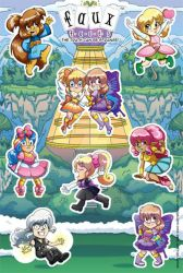 Faux Facts Magical Girls Sticker Sheet Prototype by MaryBellamy