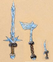 Ice weapons by Tastycake
