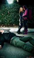 Hawkeye and Mockingbird - Dead it by FioreSofen