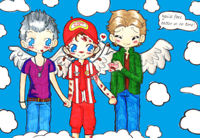 Samandriel's with his brothers now. by ChibiVillage