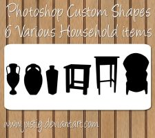 Photoshop Shapes - Household by justiej