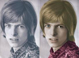 A Young David Bowie by femael-ingenuity