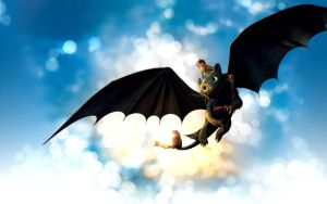 Toothless dragon Wallpaper by deaload