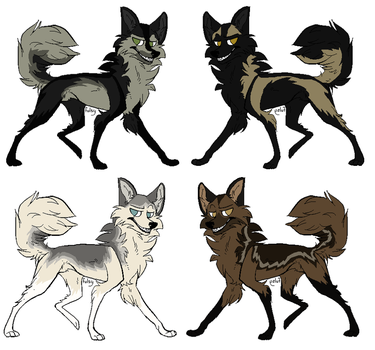 Point Husky/Wolf Adoptables by 100percentWOLF-LOVER