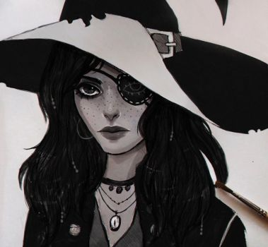 Pirate Witch by arnaerr