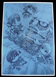 Attack on Titan chibi battle scene