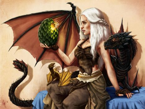 Daenerys Targaryen: Mother of Dragons by jeftoon01