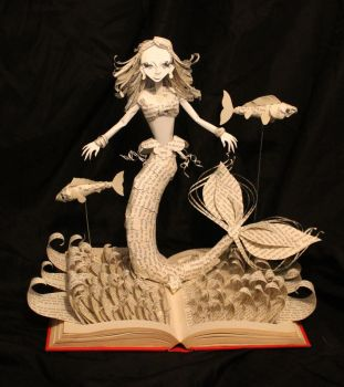 The Little Mermaid Book Sculpture NEW by wetcanvas
