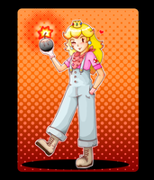 Peach in Pants by tunetherainbow