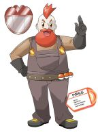 7th Gym Leader Pyralis by RizzoArtPage