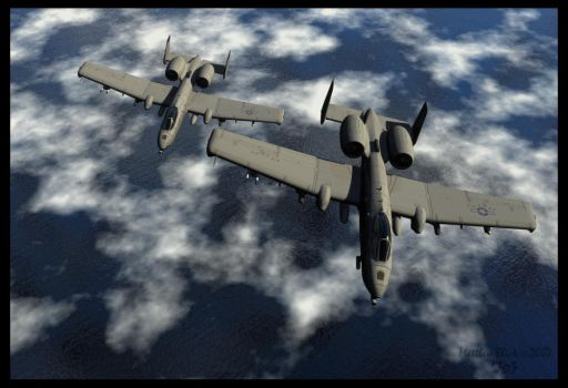 A-10 Thunderbolt by Deejayqt
