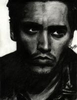 Johnny Depp - Charcoal by jy0ti
