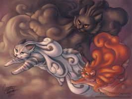 Cumulous Cats - Thunderstorm by soulofwinter