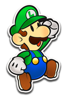 Paper Luigi- Color Splash Style by Fawfulthegreat64