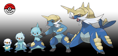 501 - 503 Oshawott Line (Redo) by InProgressPokemon
