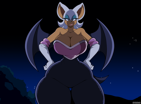 Rouge The Bat Redraw II by XSuperiX