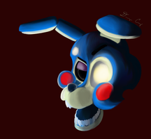 Sloppy Paint Practice w/ Toy Bonnie by Satori-of-the-Forest
