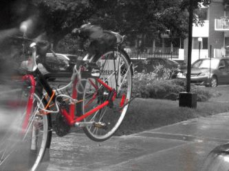 The red bike by ChaRLunE