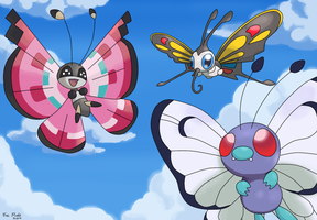 Pokemon  ButterFlies by DragoonForce2