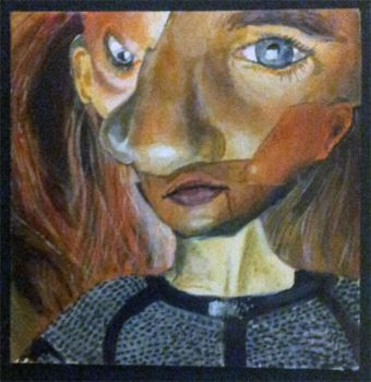 Abstract Portrait Acrylic by Art-by-MK