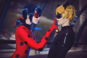 LadyBug and Chat Noir cosplay by Milena104